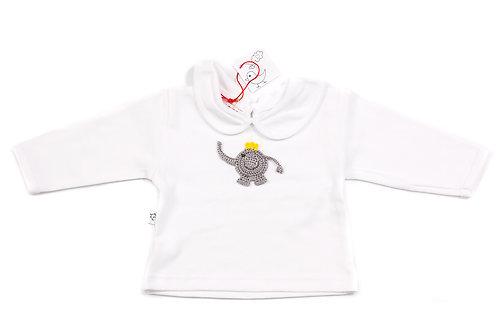 Long Sleeved White T-Shirt - Cute Elephant Princess