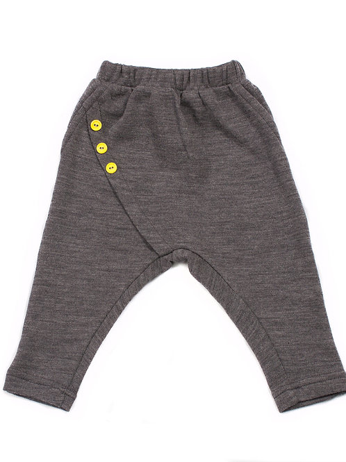 Merino Must Have Trousers - Yellow Buttons