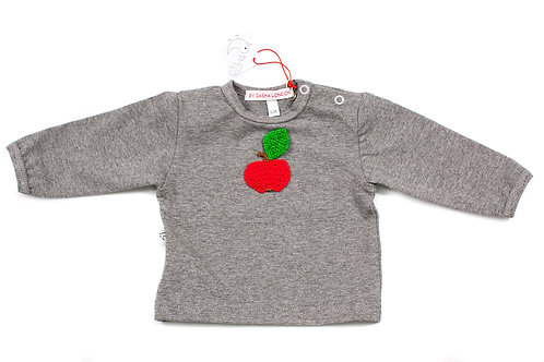 Long Sleeved Grey T-Shirt - Juicy Apple