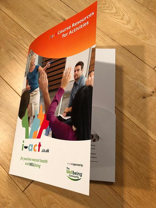 A4 pocket folder titled 'Course Resources for Instructors'