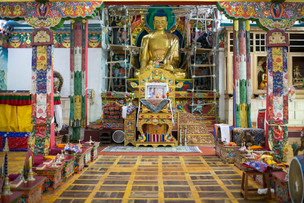 Inside the Phyang Monastery
