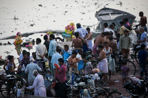 Washing in Yamuna River