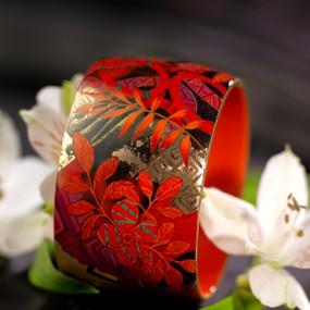 Bracelet bois de hêtre laqué