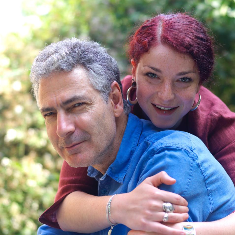 Mon mari, le peintre Aymery Rolland et notre fille Solène 2018