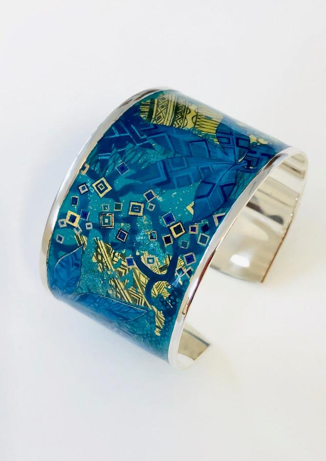 Bracelet en argent massif laqué