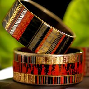 Bracelets laqués