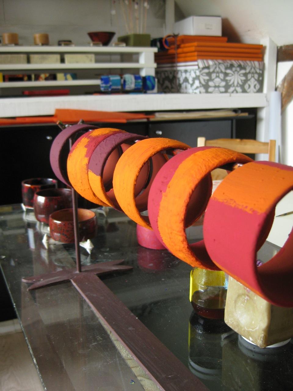 séchages des bracelets