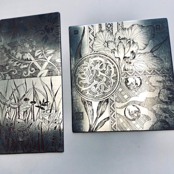 Gravures sur plaques de zinc.