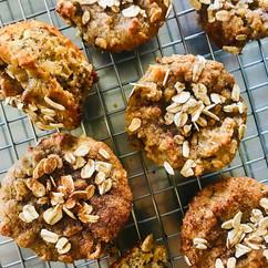 Muffins de plátano con nuez hechos con harina de almendras. #cocinadecuarentena