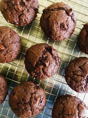 Muffins doble chocolate #cocinadecuarentena