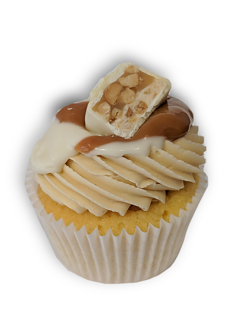 White Snickers Cupcake