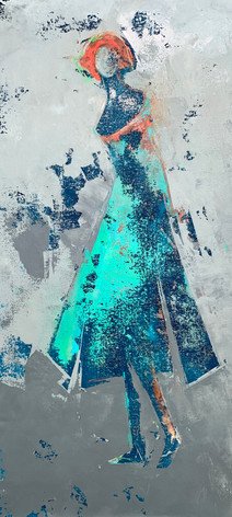 Lady in Blue - SOLD