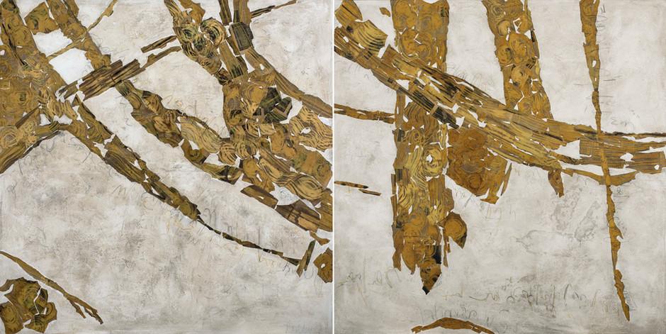 New Tree Barks I & II - Diptych (Nuevas Cortezas I & II - Diptico)