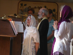 The choir sings