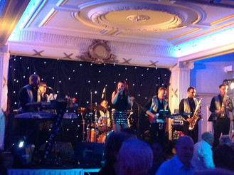 Hollie Marie with Pure Genius XL, New Year's Eve at Wicksteed Park Pavilion.