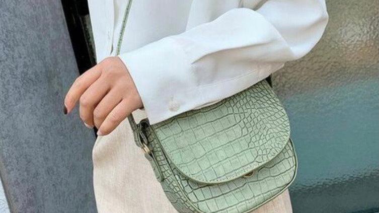 Faux Croc Sling Bags