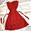 Thumbnail: Red Lace Blossom A-line Dress | Size S/M