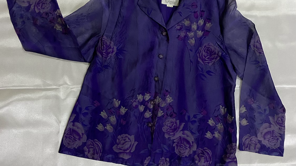 Ćeres Vintage Long Sleeve Floral Shirt