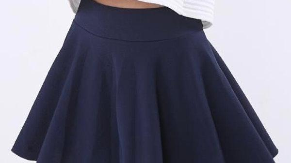 High Rise Flared Skater Skirt