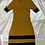Thumbnail: Mustard Solid Sheath Dress | Size XS