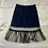 Thumbnail:  Denim Mini Skirt with Mesh Overlay | Size M