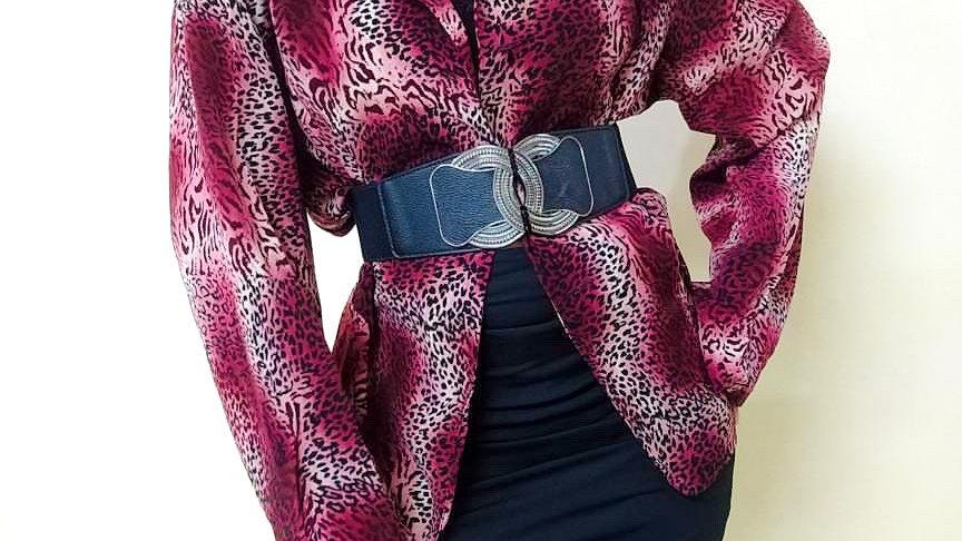 Vintage Leopard Print Coat w/o Buttons