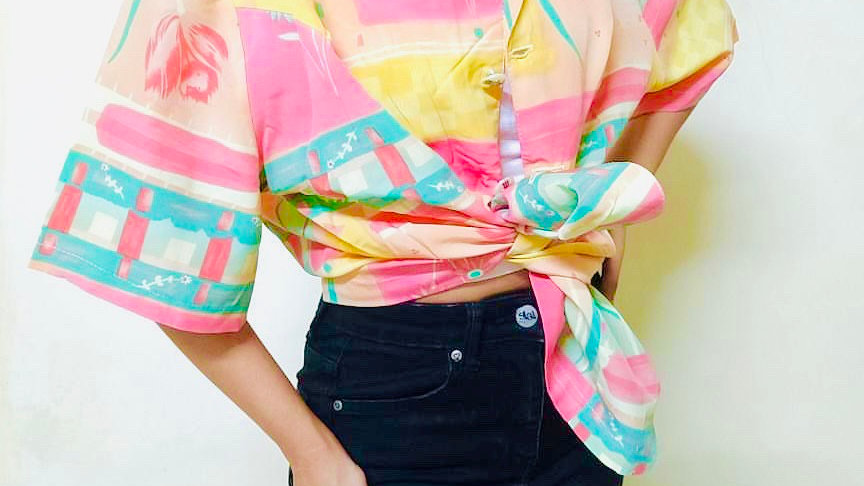 Abstract Print Haute Boheme Blazer Shirt | Free Size