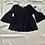 Thumbnail: Navy Blue Black Flare Sleeve Top   Size M