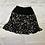 Thumbnail: B/W Crepe Layered Floral Print Skater Skirt   Size S