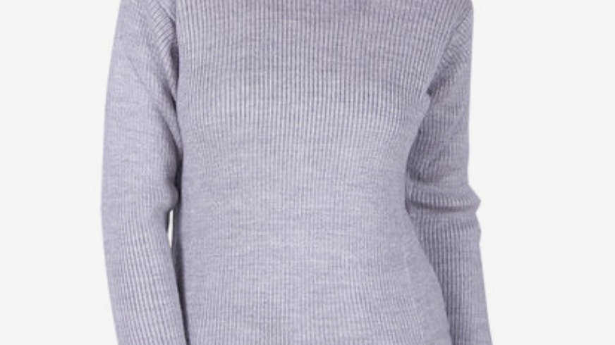 Grey wool turtleneck