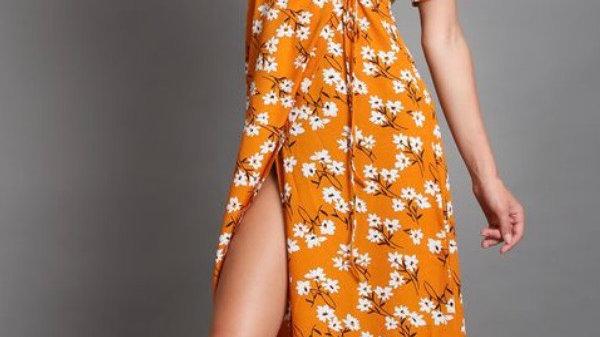 Adjustable Waist Slit Summer Dress | Size XL