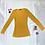 Thumbnail: Mustard Rib-knit Scoop Neck Top