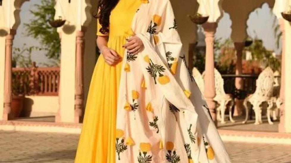 Yellow kurta Set