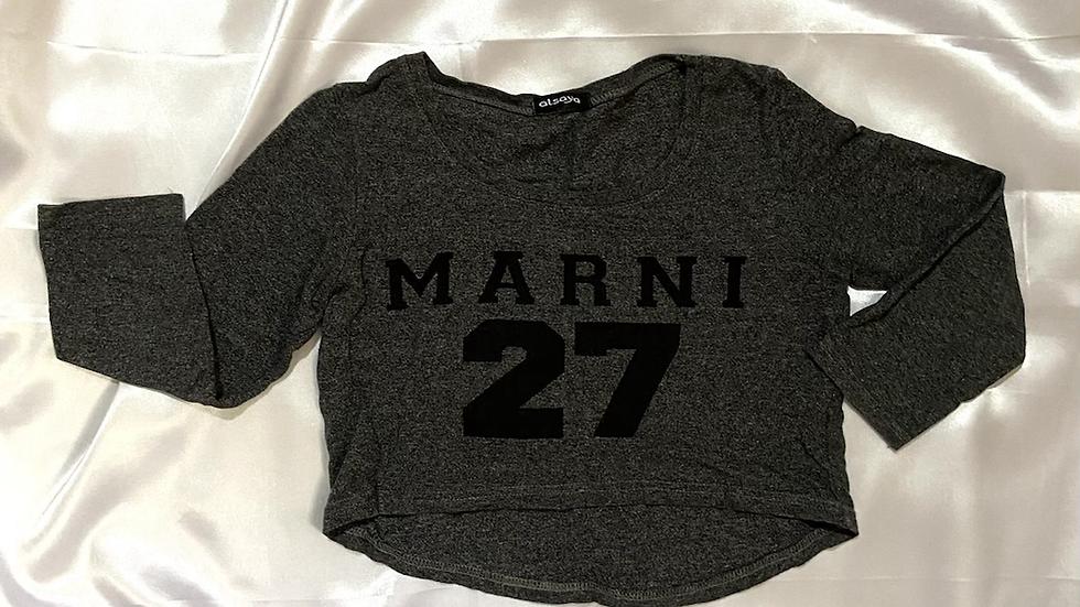 Marni Grey Crop Top | Fit: XS-S