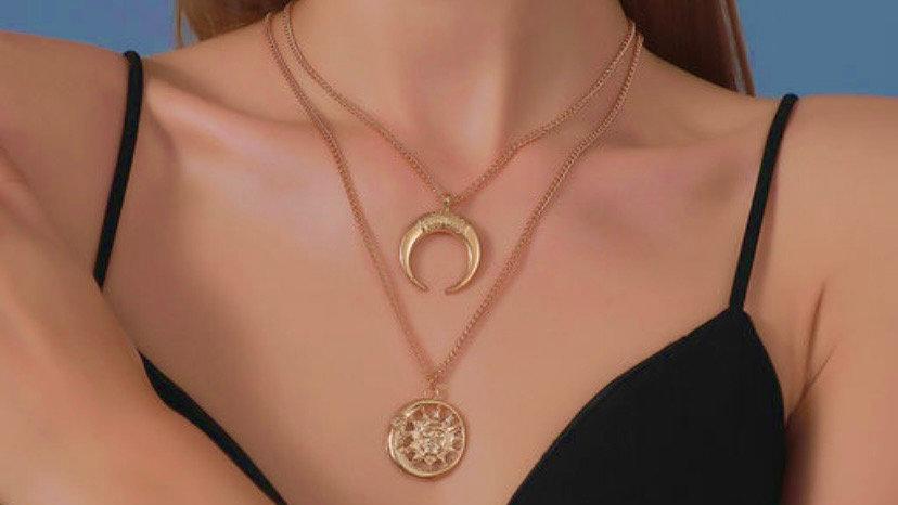 Sun & Moon Personality Amulet Neckpiece