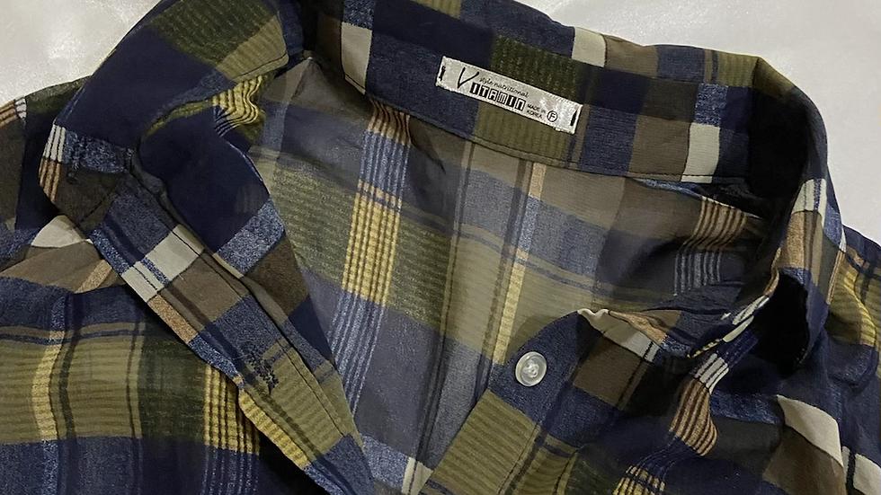Checkered  Sheer Shirt | Size S
