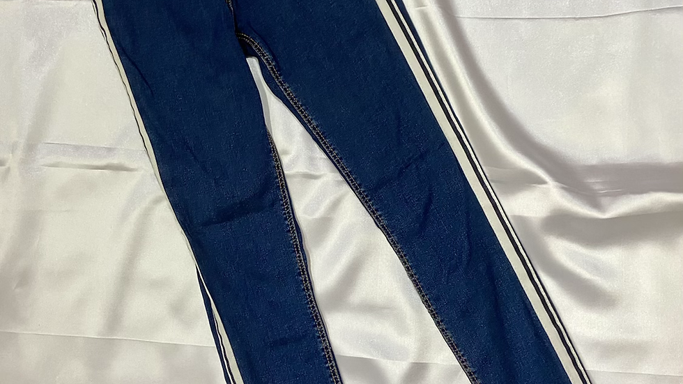 Striped High Waist Denim | Size 24""