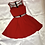 Thumbnail: I can't Resist Deep Red Skater Dress | Size S