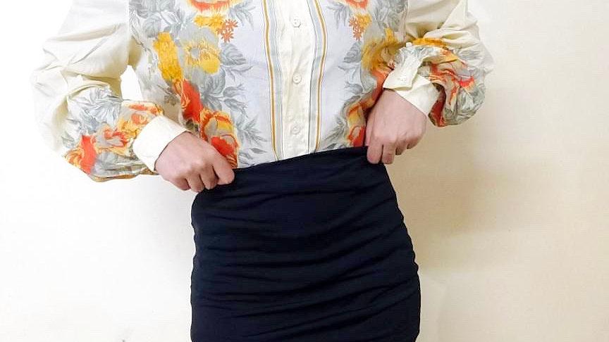 Retro 80s Watercolour Floral Vintage Shirt