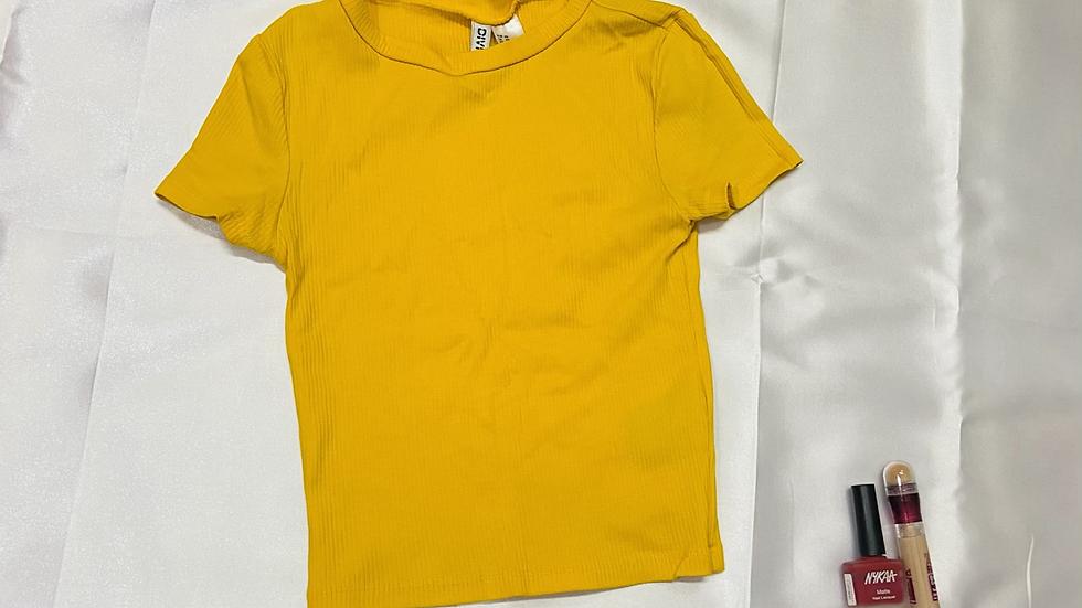 H&M Yellow Crop Top