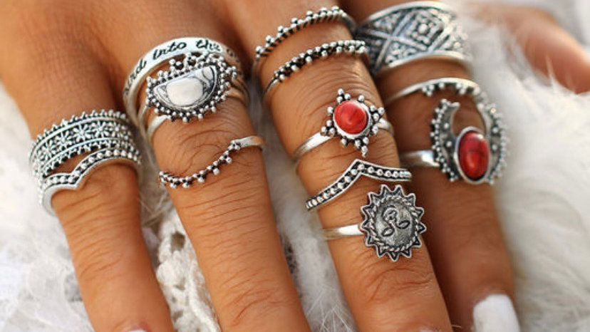 Vintage Trendy Ring Set | 14 Rings