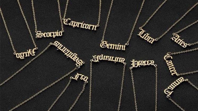 Sagittarius- Zodiac Letter Minimalistic Pendant Necklace