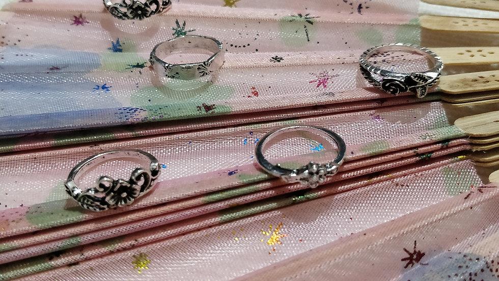 Flower and Ring Design Leaf Set 5 Pcs