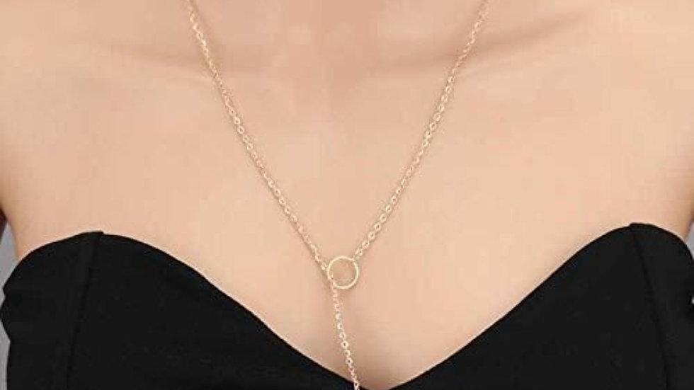 Minimalist pendant Chain Drop Neckpiece