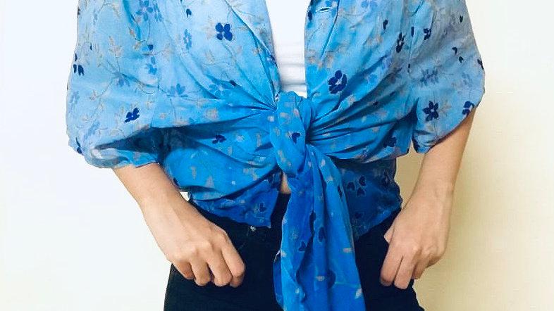 Vintage Floral Ombré Shirt