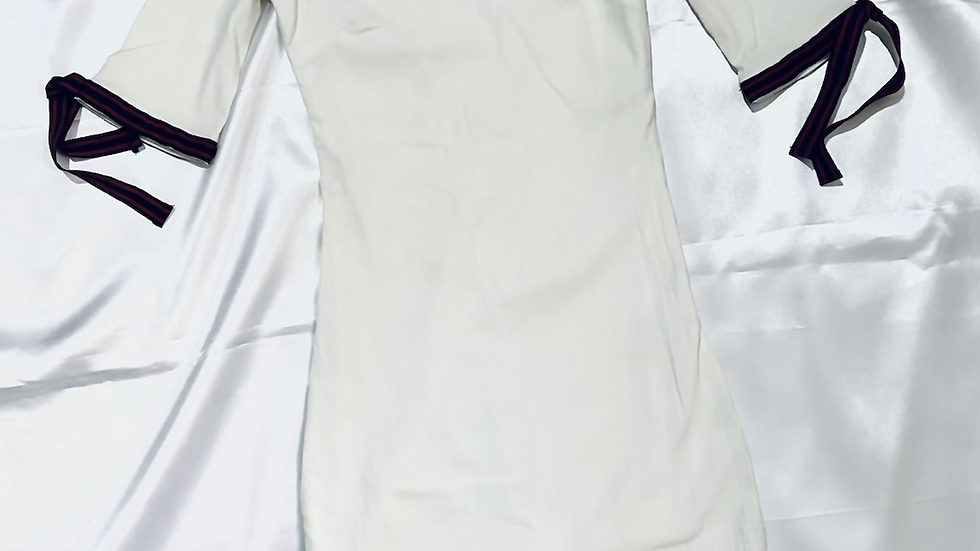 Off-white Solid Bodycon Dress   Size XS