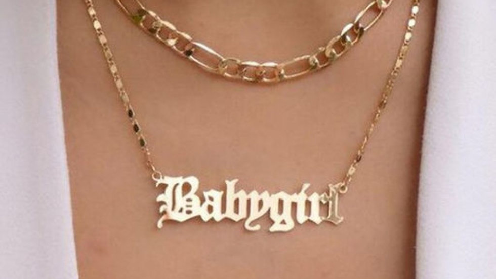 Layered 'Babygirl' Neckpiece