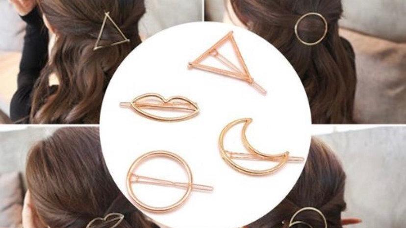 Minimalist Geometric Hair Clip Barratte Set