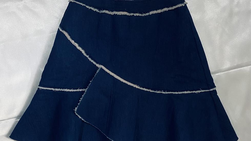 Dark Blue Skater Skirt | Size M