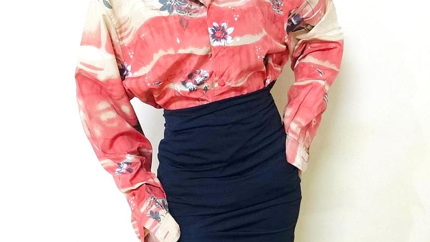 The Midsummer Vintage Floral Print Oversized Shirt